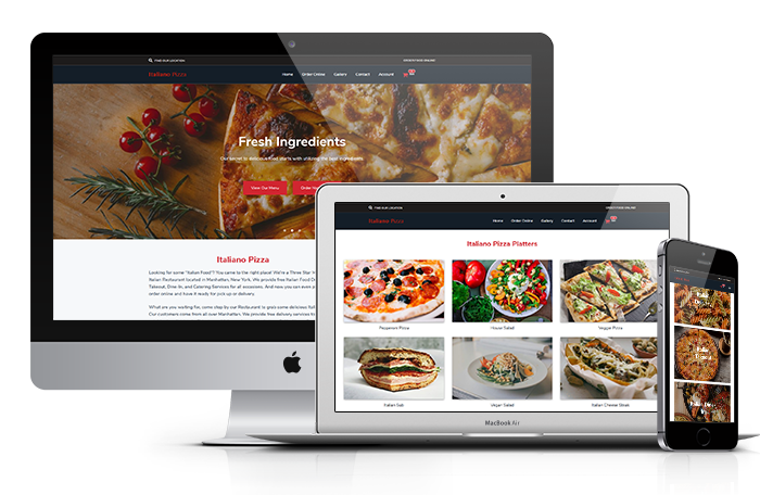 Mobile, Tablet, And Website Online Food Ordering System
